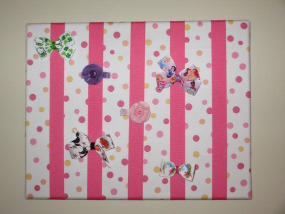 Fabric Covered Bow Board by susiebowtique on etsy- Looks easy to make