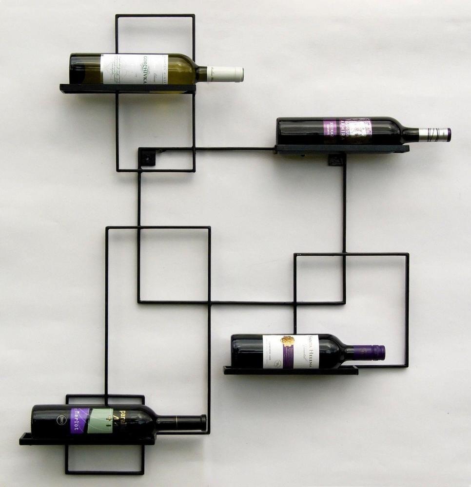 Weinregal Metall Wand Black Line Flaschenregal 90 Cm Flaschenhalter Schwarz Ebay Weinregal Regal Weinregal Ideen
