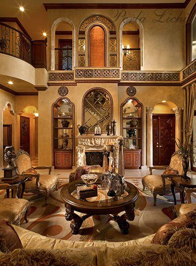 Mediterranean Tuscan Style Living Room Design Ideas In