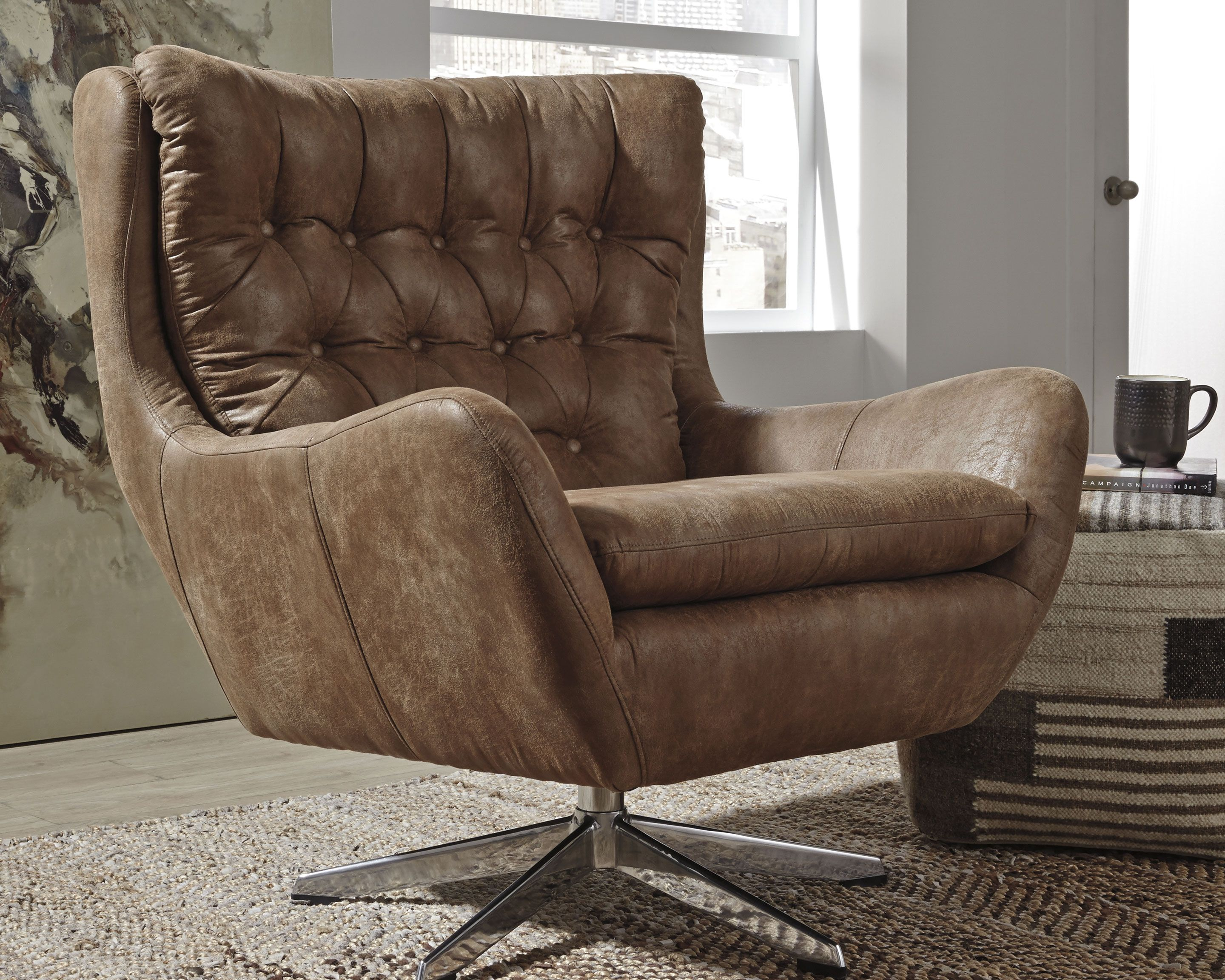 velburg accent chair brown products in 2019 accent chairs rh pinterest com