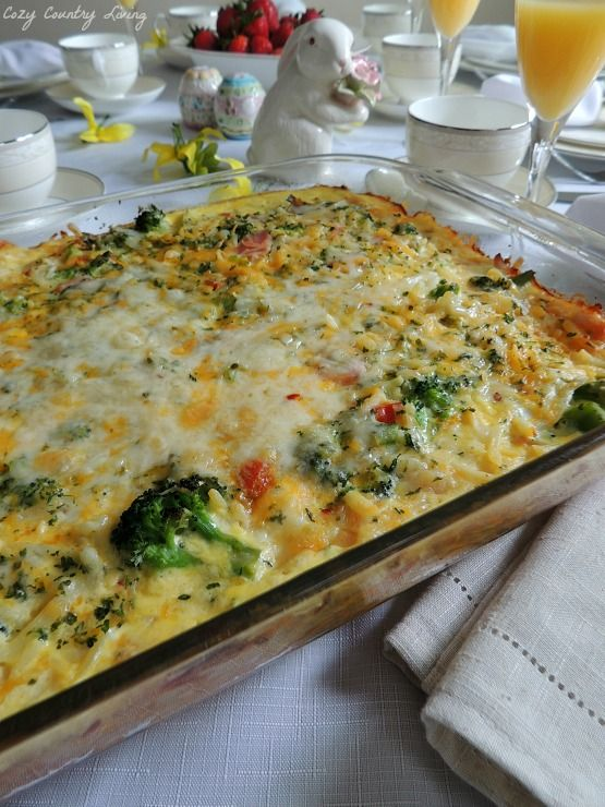 Potato, Broccoli  Pepper Jack Egg Casserole  Recipe -7099