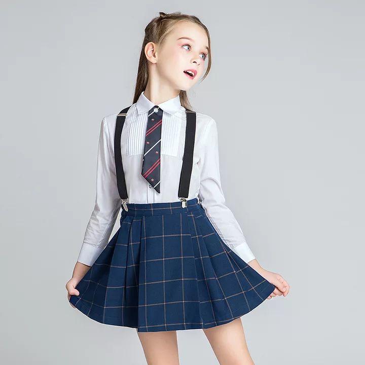 ALL 2,852.67 50% Off School Girls Uniform Clothes Set