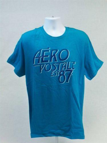 Aeropostale-Mens-Short-Sleeve-Graphic-T-shirt-Blue-size-XXL-Aero-Tee-New