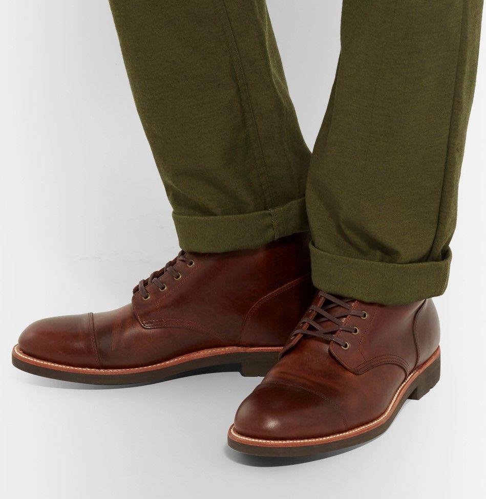 J.Crew Kenton Cap-Toe Leather Boots