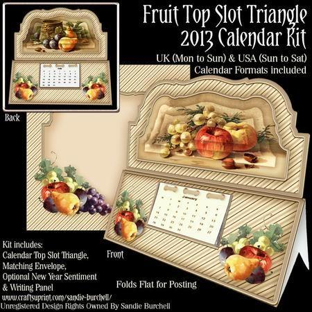 Fruit Top Slot Triangle 2013 Calendar Kit