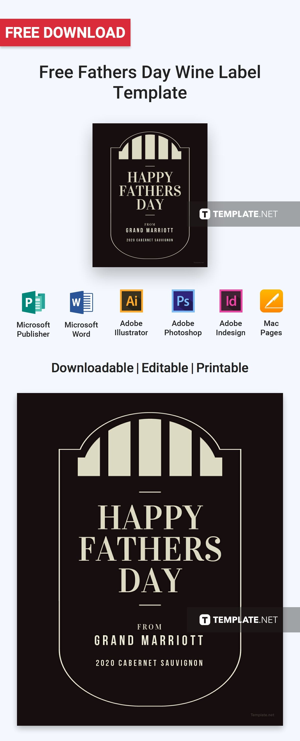 Free fathers day wine label free label templates pinterest free fathers day wine label template free label templates wine label fathers dads maxwellsz