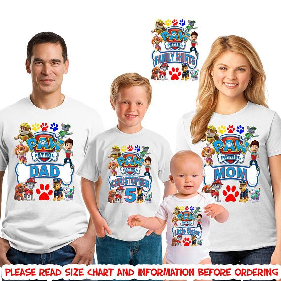 Paw Patrol Birthday Shirt Boy Girl Family Matching