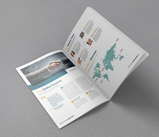 A4 Brochure Mock Up Mockup Pinterest Brochures Template And
