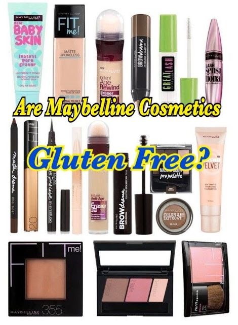 Are Maybelline Cosmetics Gluten Free? A List of Gluten ...
