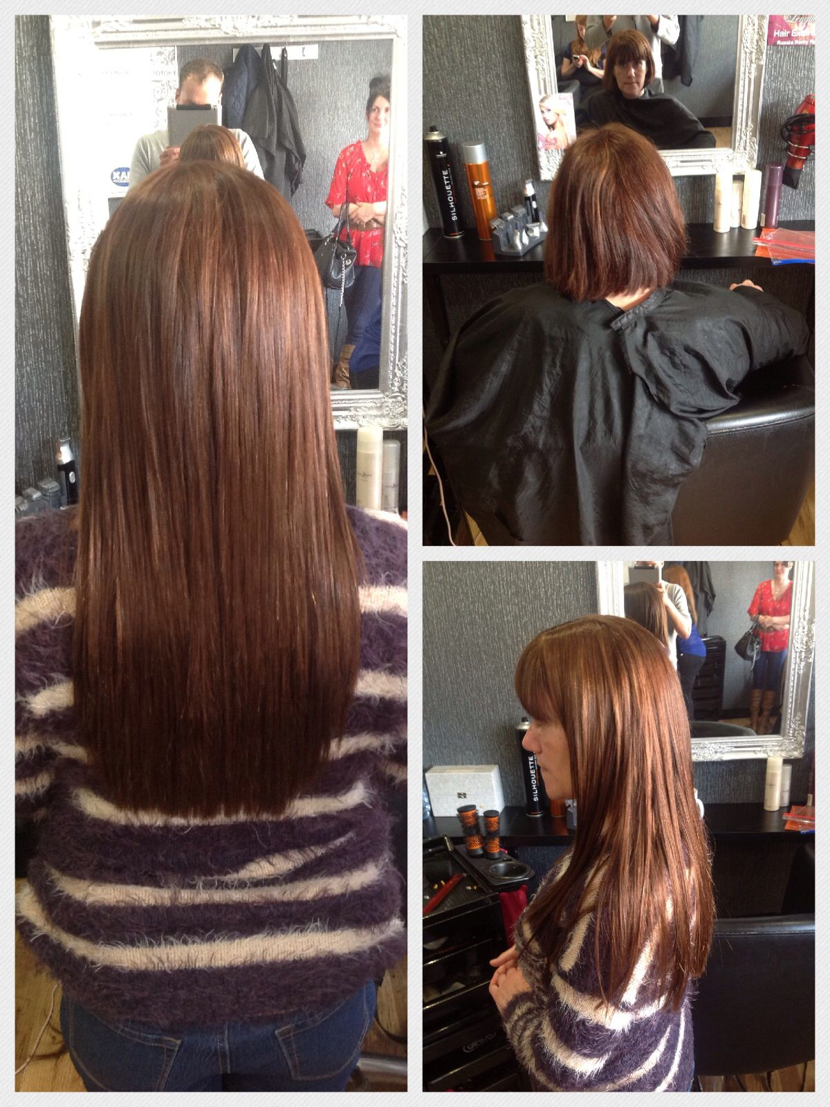 Before And After Micro Ring Hair Extensions Using Indian Remy Hair