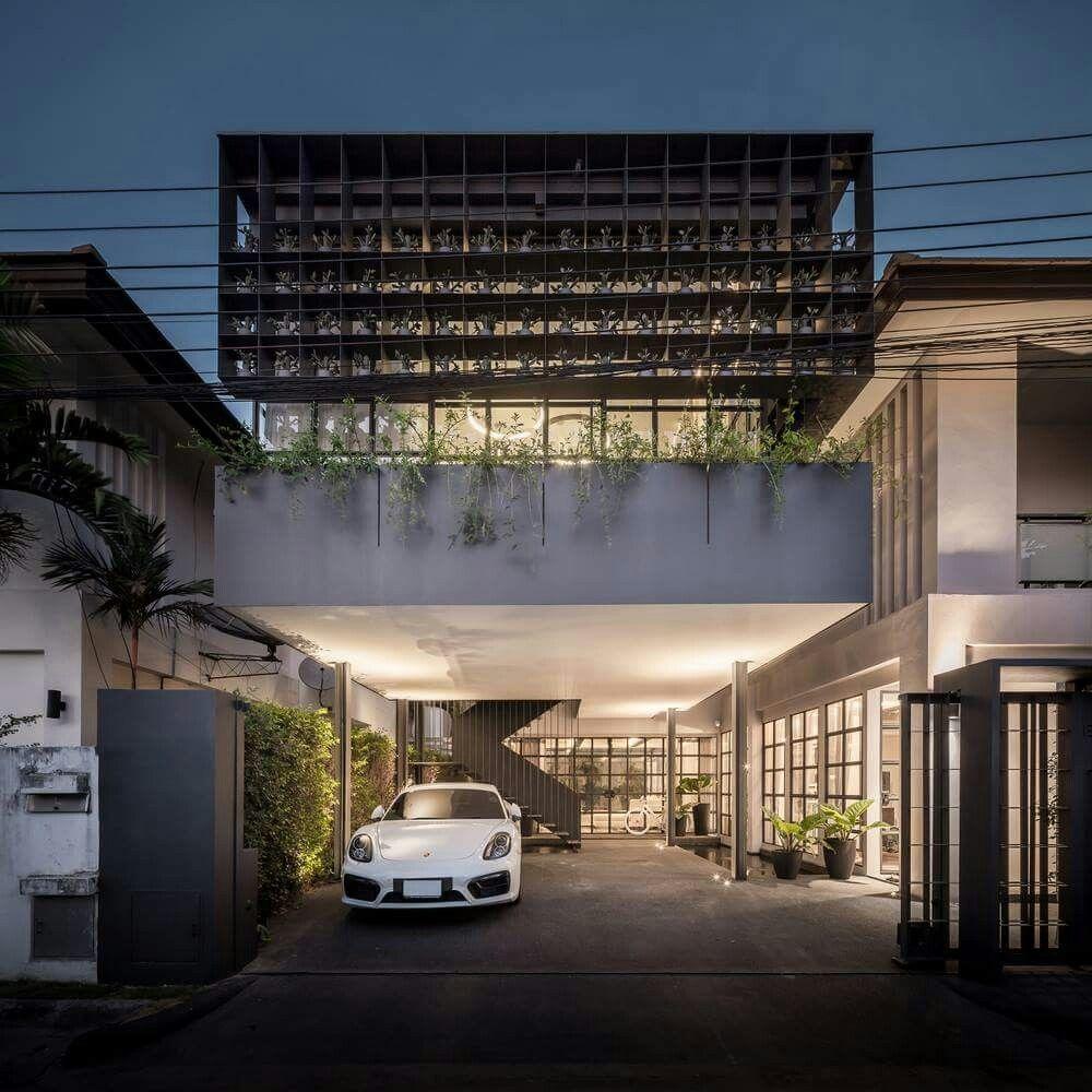 Modernes Wohnen, Zukunft, Architektur, Bangkok Thailand, Olivenpflanze,  Moderne Häuser, Kleine Häuser, Coole Architektur, Architektur Student