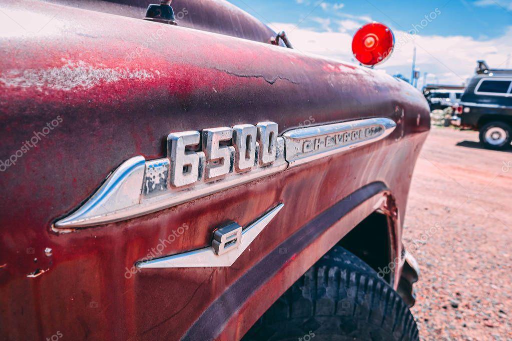 Old Truck Holbrook Arizona  Stock Photo
