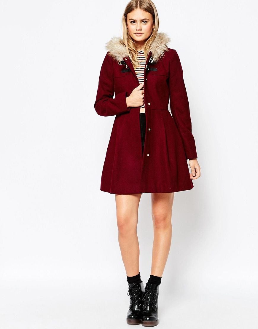most popular picked up new lifestyle Duffle-coat avec capuche en fausse fourrure   Coat, Duffle ...