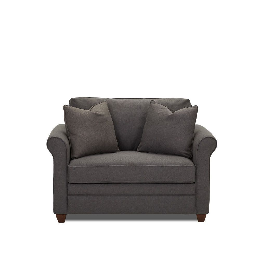 dopler contemporary grey innerspring chair sleeper dopler rh pinterest com