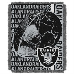 Oakland Raiders Bed Throw Blanket Bedding 48 x 60
