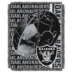 Oakland Raiders Bed Throw Blanket Bedding 48 x 60