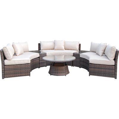 janet 6 seater rattan sofa set furn rh pinterest es