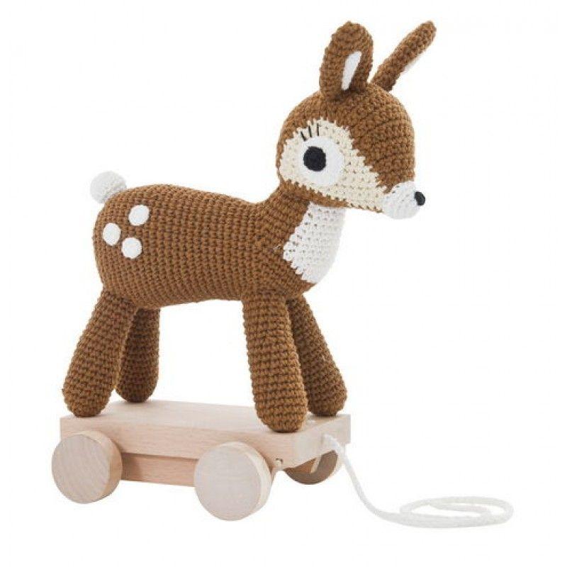 Sebra Pull Along Deer - oh my!! Sam!!