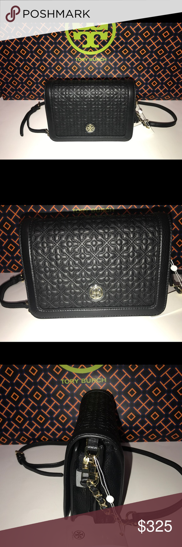 1c19b9590dc New Tag Tory Burch Bryant Quilted Combo Cross-bag Tory Burch Bryant Quilted  Crossbody