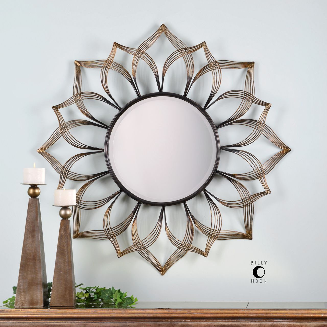 Sunflower Mandala Wall Mirror Flower Mirror Mirror Wall Mirror