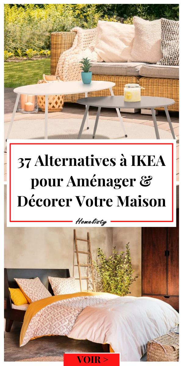 37 Alternatives Et Concurrents A Ikea Deco Et Amenagement En 2020 Ikea Deco Ikea Decoration Maison