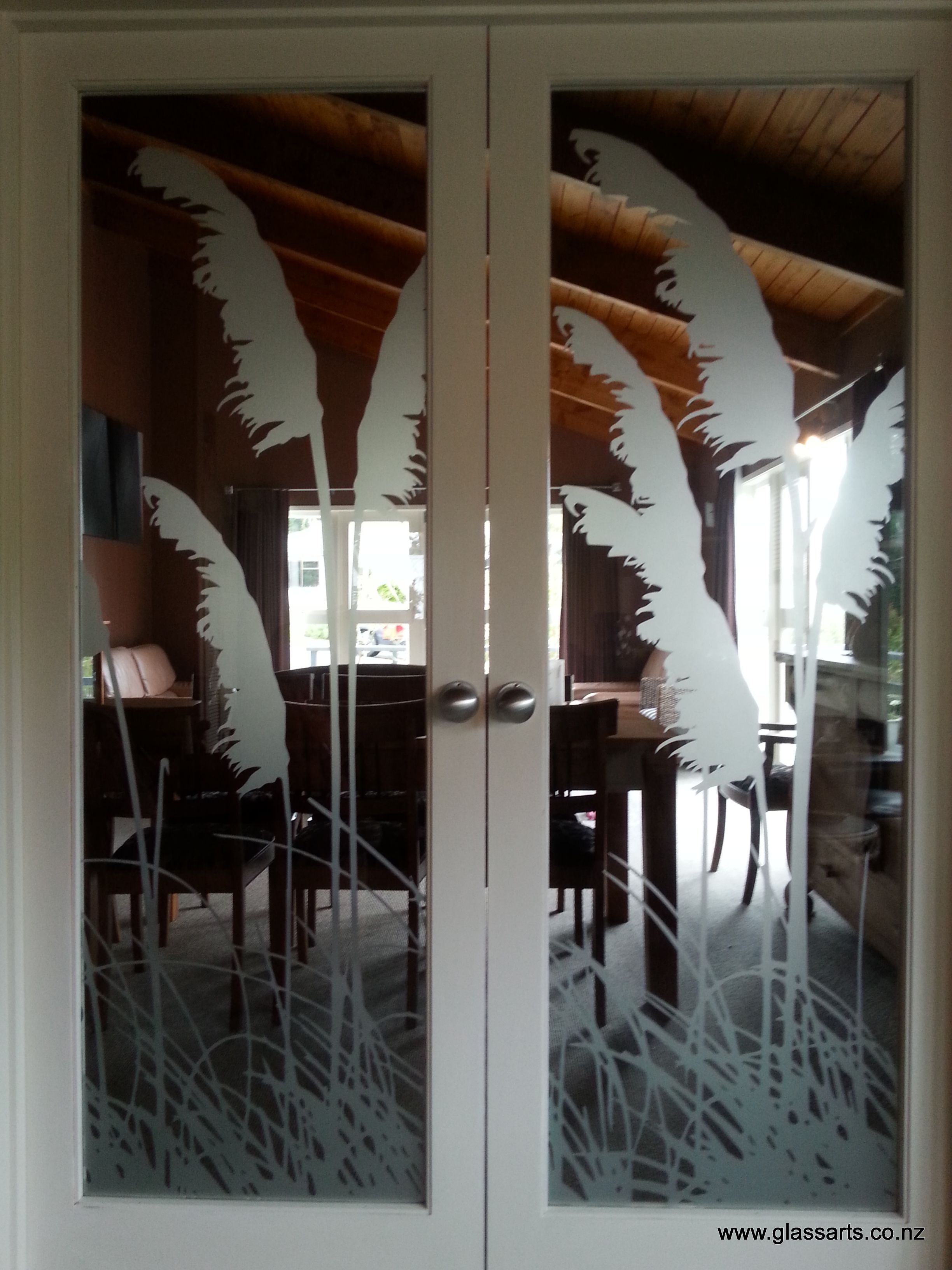custom deco design with frosted film glassarts design in kingsland rh pinterest com au