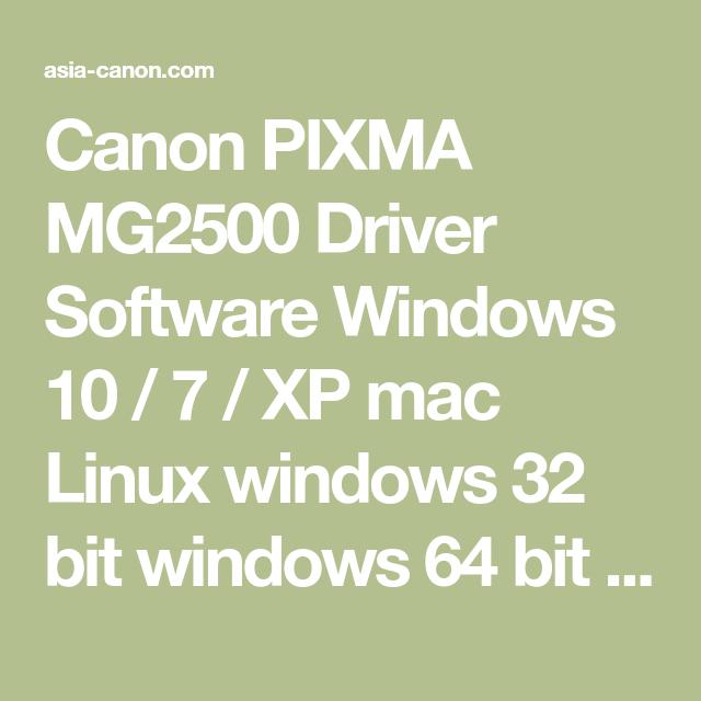 Canon pixma mg2500 support driver canon driver ai.
