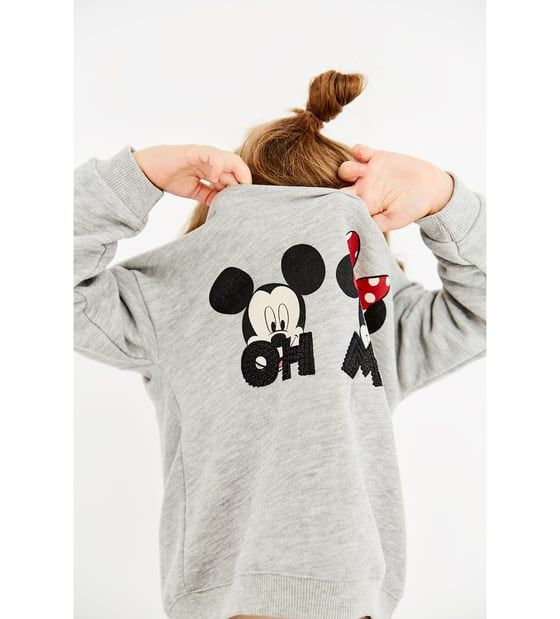 7c4ab6e0 Image 1 of MICKEY AND MINNIE MOUSE SWEATSHIRT from Zara | LITTLES ...