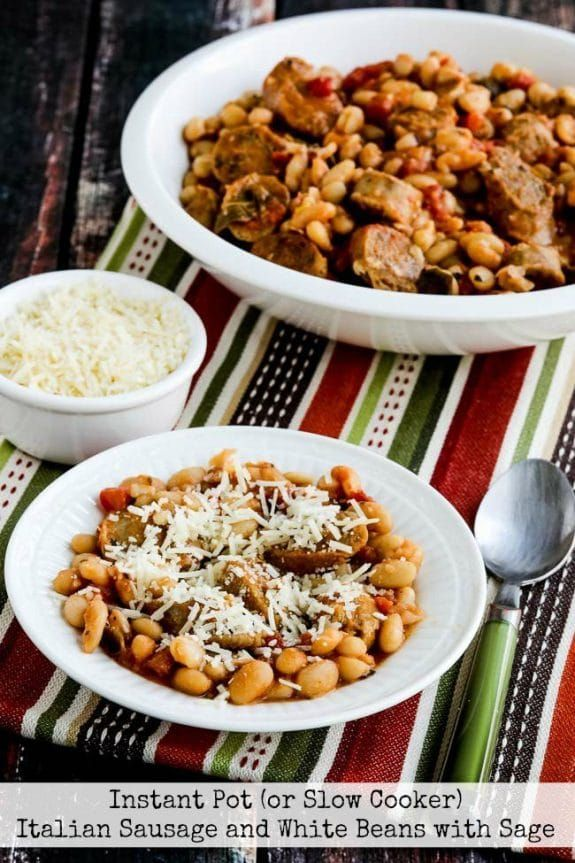 381 Easiest Way To Prepare Tasty Instant Pot Cabbage Sausage Soup: Italian Sausage And White Beans With Sage From Kalyn's