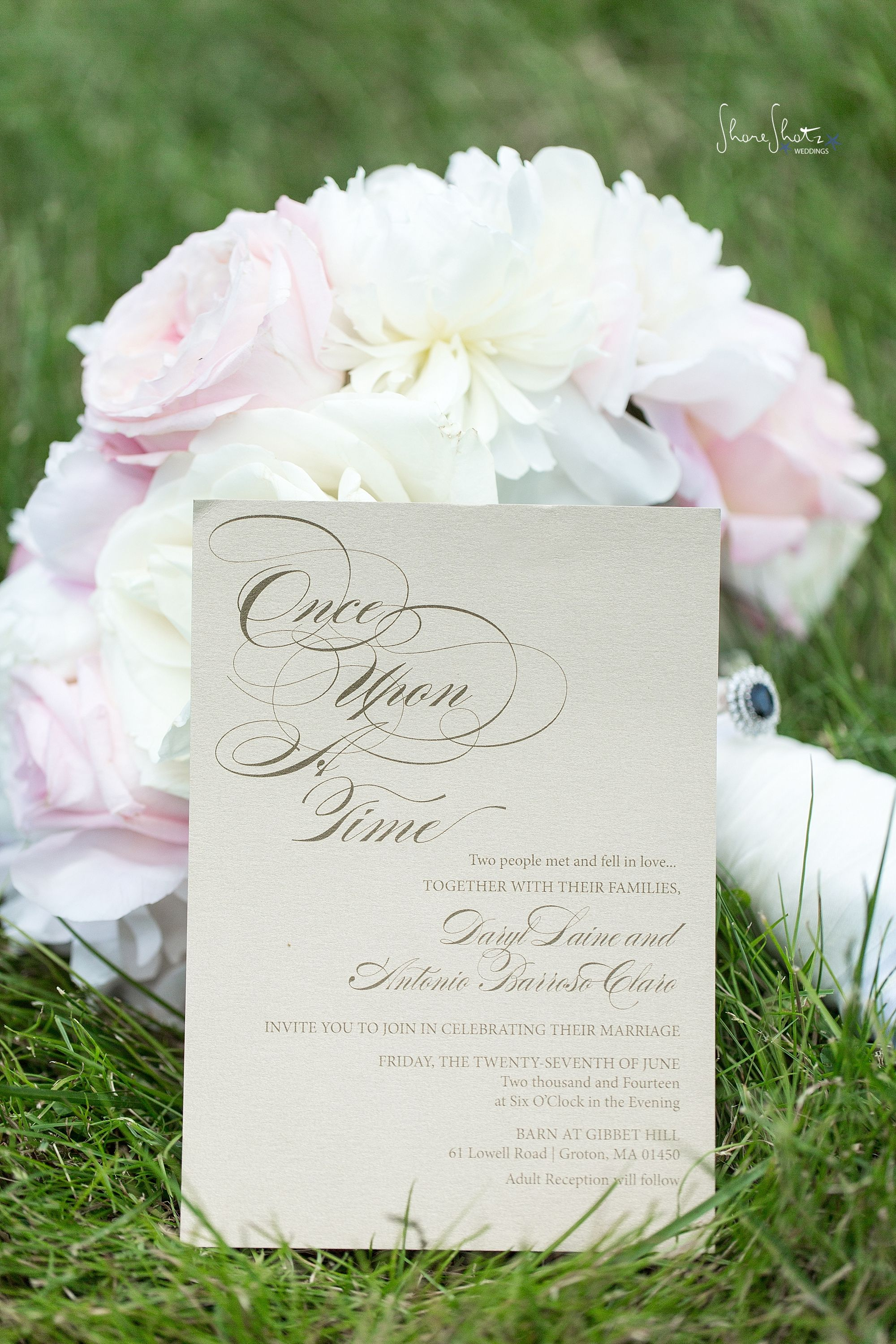 wedding celebration invitation%0A Once upon a time wedding invitation  Daryl   Tony Married   Barn At Gibbet  Hill