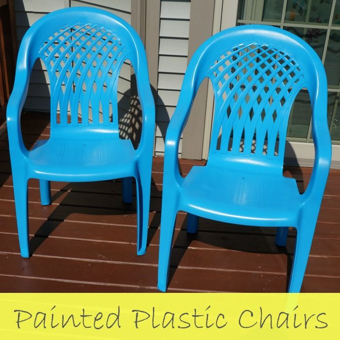 deck makeover painted plastic chairs diy pinterest painting rh pinterest com