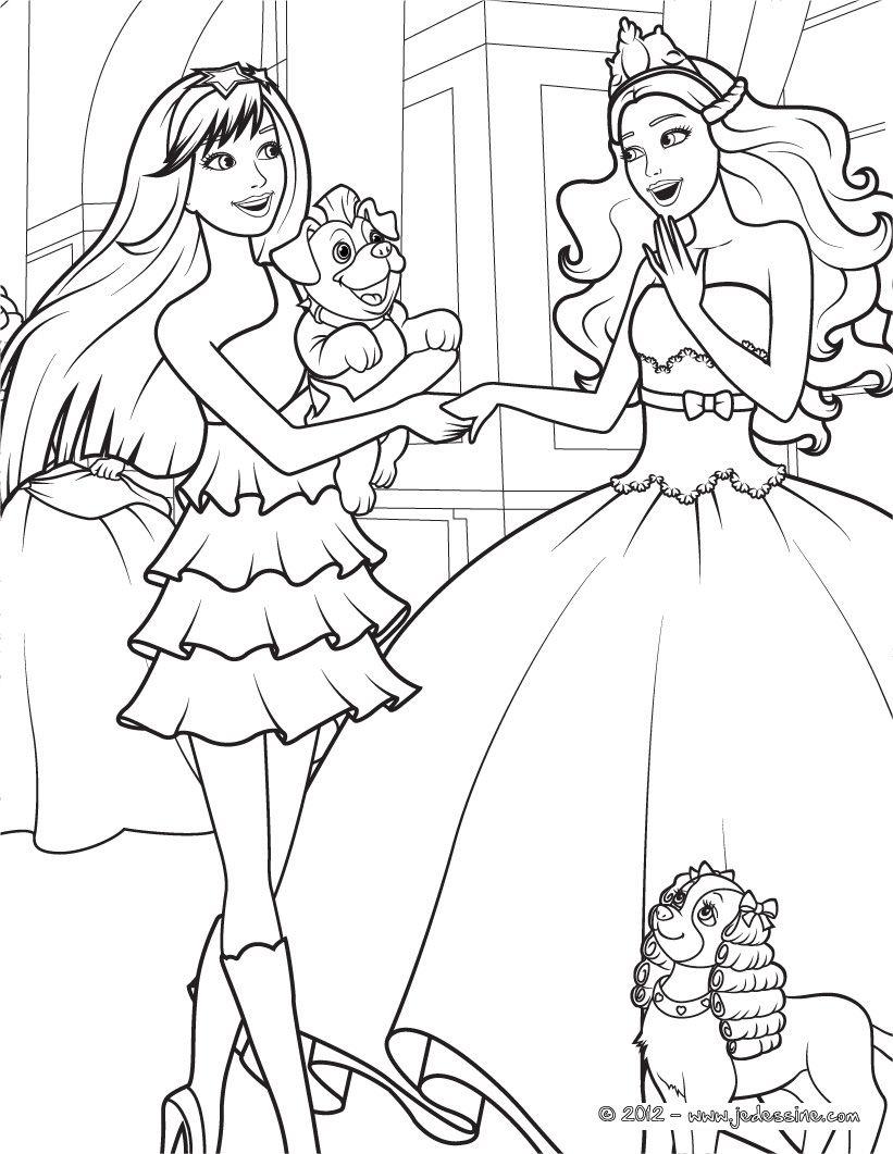 Barbie coloring page.109 | Ausmalbilder Barbie | Pinterest