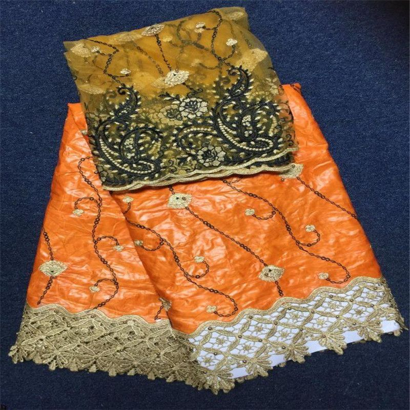 african fabric 5 Yards lot Bazin Riche Getzner Lace Fabric new design with stones and beads for african party sewing
