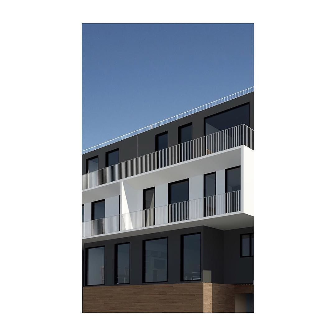 b618 2016 facade design volumes apartments flats sketch - Concrete Apartment 2016