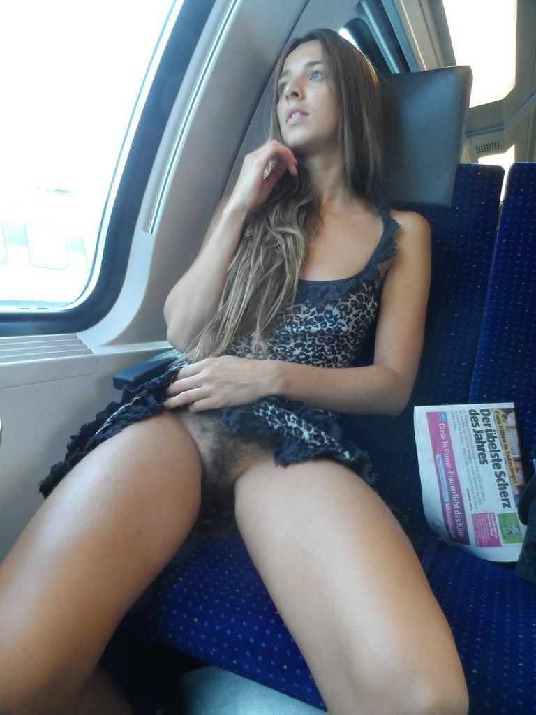 flashing on train Public