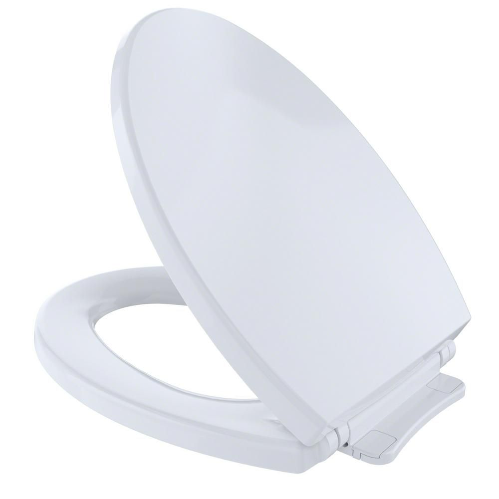 TOTO SoftClose Elongated Closed Front Toilet Seat in Cotton, Cotton ...