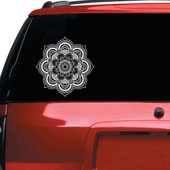 Mandala Car Decal Vinyl Sticker Decals Mandala Decal For Car Etsy Car Decals Vinyl Car Decals Car Decals Stickers