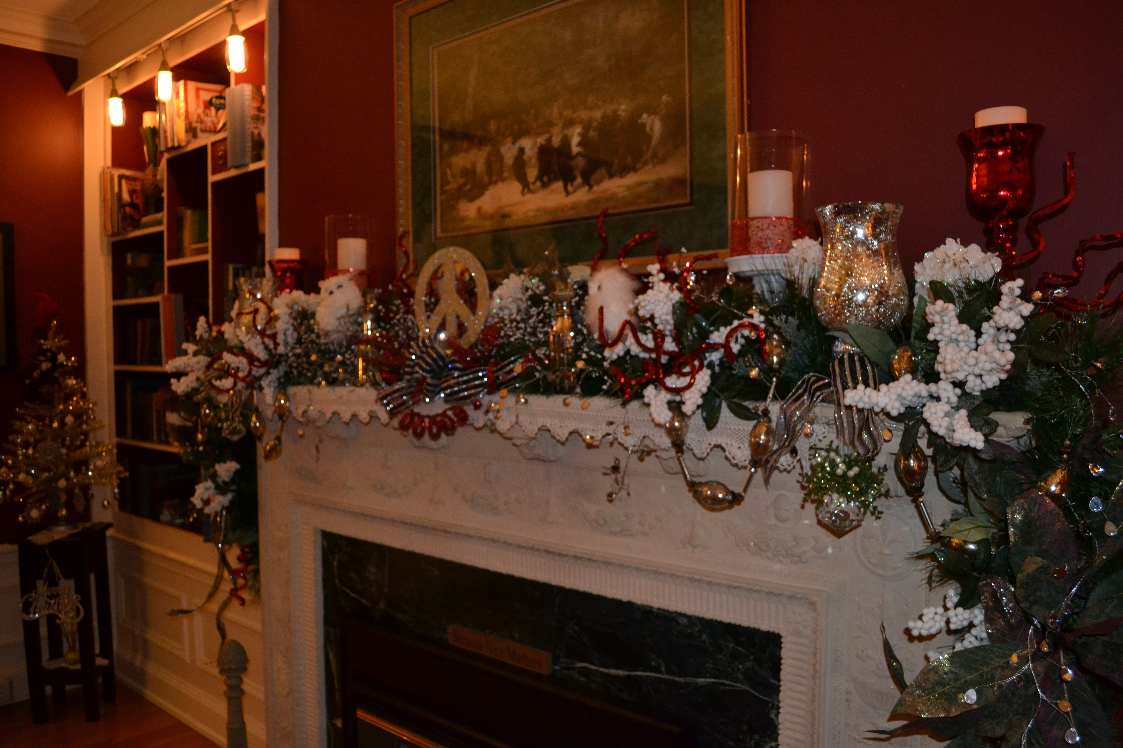Holiday decorating at our Duluth Bed and Breakfast. www