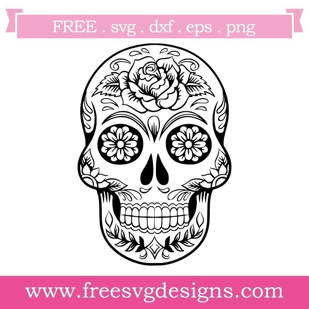 Free SVG Files Sugar Skull 721 Skull coloring pages