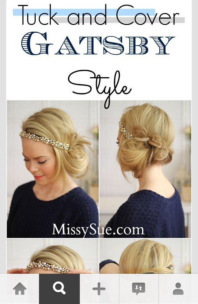 The Great Gatsby Hair Style Very Elegant X Great Gatsby Hairstyles Gatsby Hair Gatsby Hairstyles For Long Hair