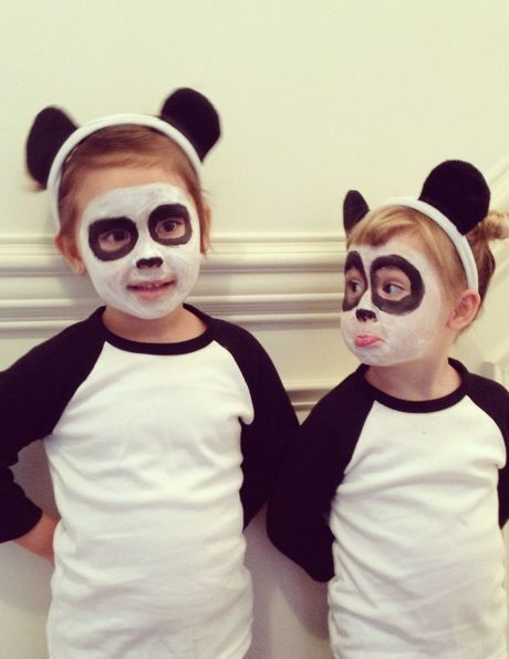 panda kost m selber machen kost m idee zu karneval halloween fasching kost me f r kinder. Black Bedroom Furniture Sets. Home Design Ideas