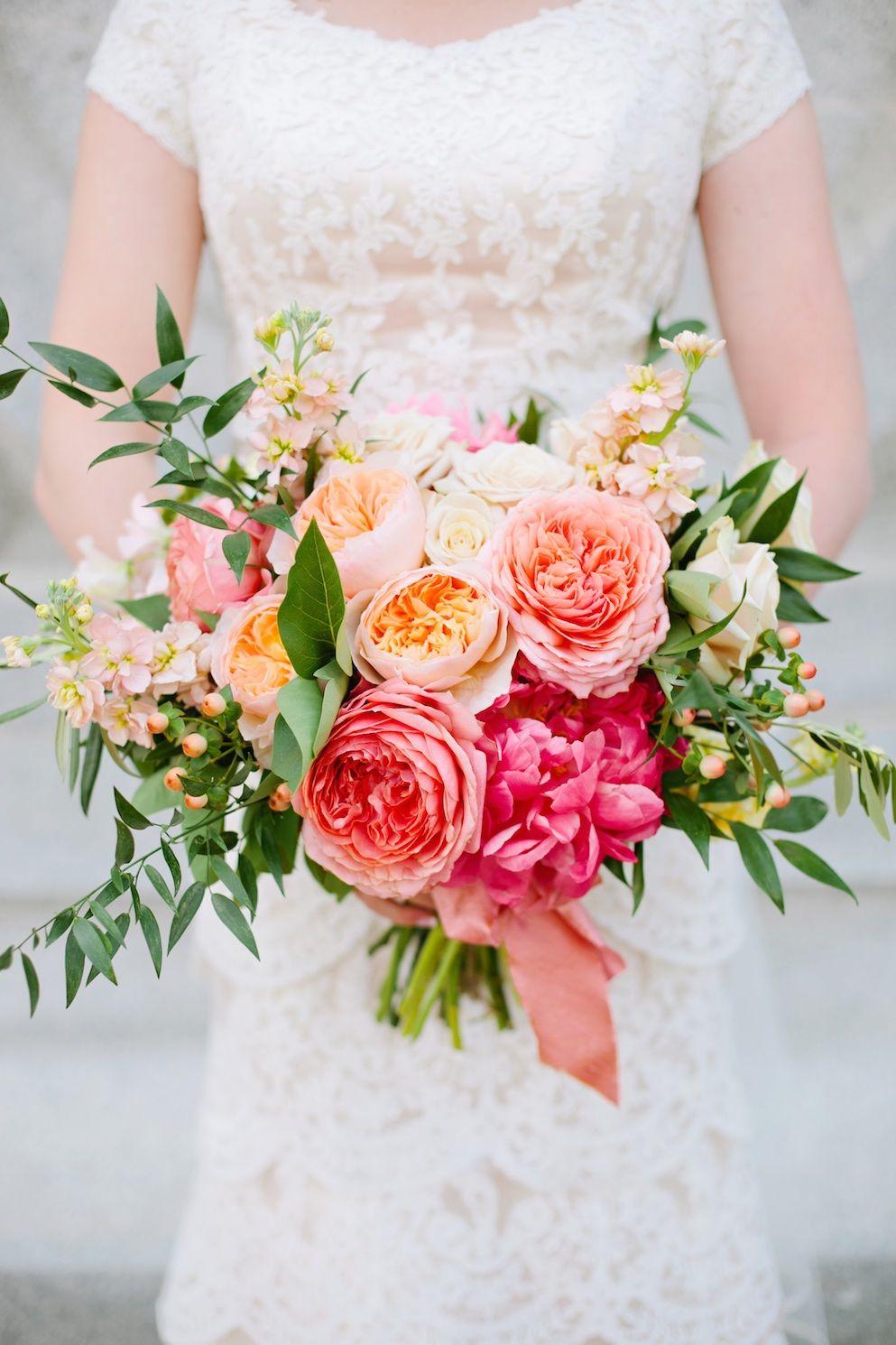 Thanksgiving Point Coral Summer Wedding Flowers Wedding
