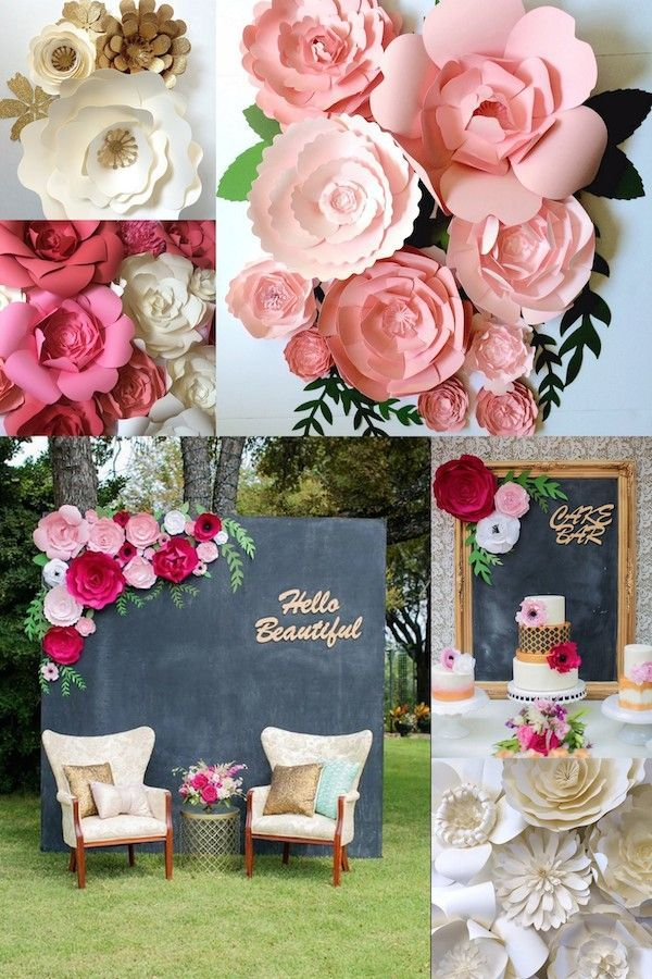 Mid South Brides Feature Of Paper Flower Walls And Wedding Decor