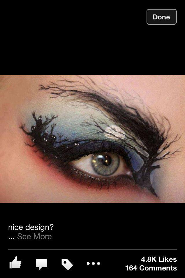 Crazy Eye Make Up: Crazy Eye Makeup! Spooky Night