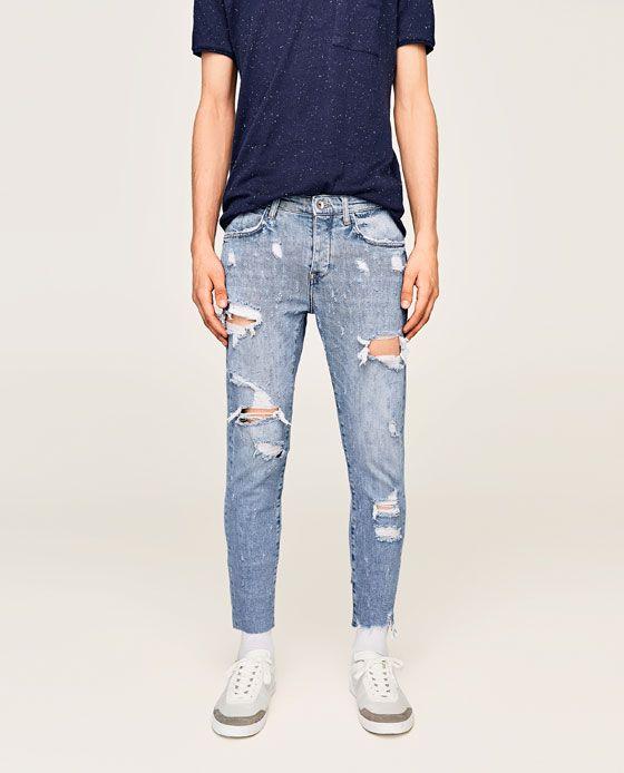cb2b85644 Imagen 2 de DENIM LAVADO ROTOS de Zara | Jeanetics. en 2019 | Jeans ...