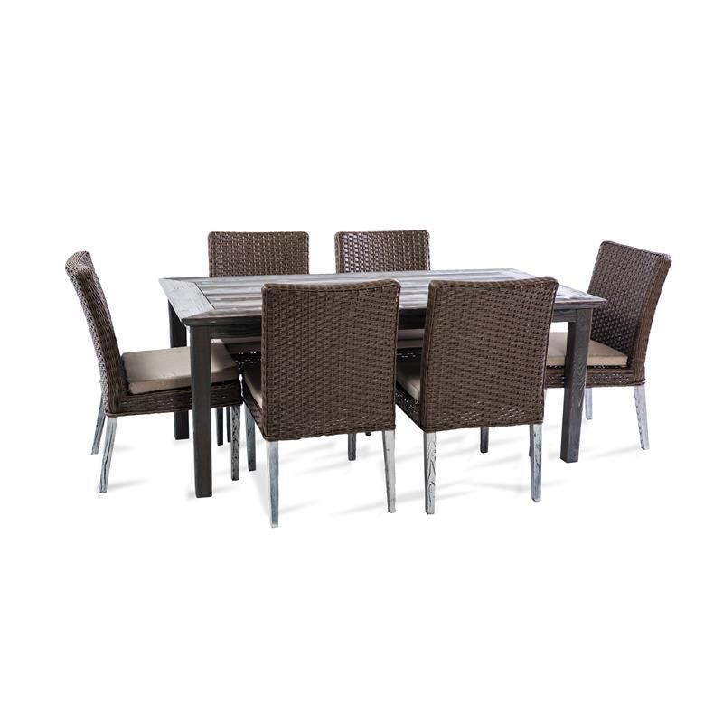 thy hom winchester 7 piece outdoor dining set las vegas furniture rh pinterest com