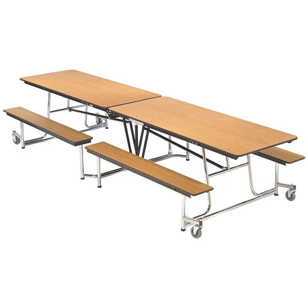 Mobile Bench Cafeteria Table 30 W X 12 1 L Cafeteria Table Table Bench Table