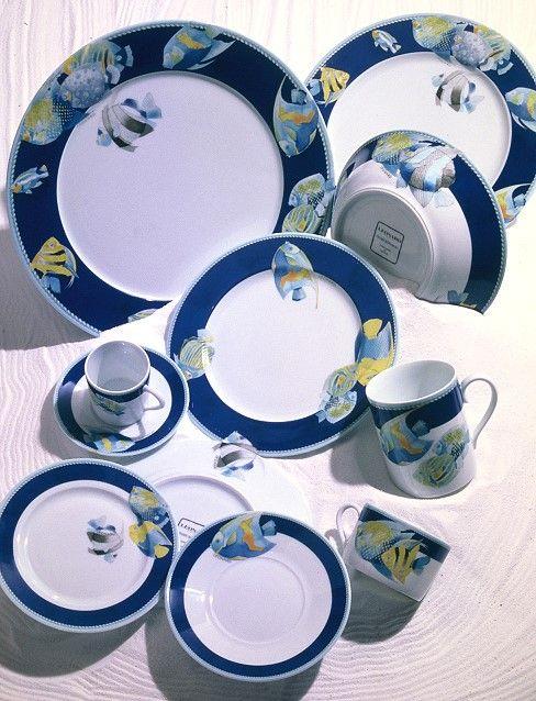 Fish Dinnerware Motif Bora Bora by Haviland Parlon designed by the House of Leonard & Fish Dinnerware Motif Bora Bora by Haviland Parlon designed by the ...
