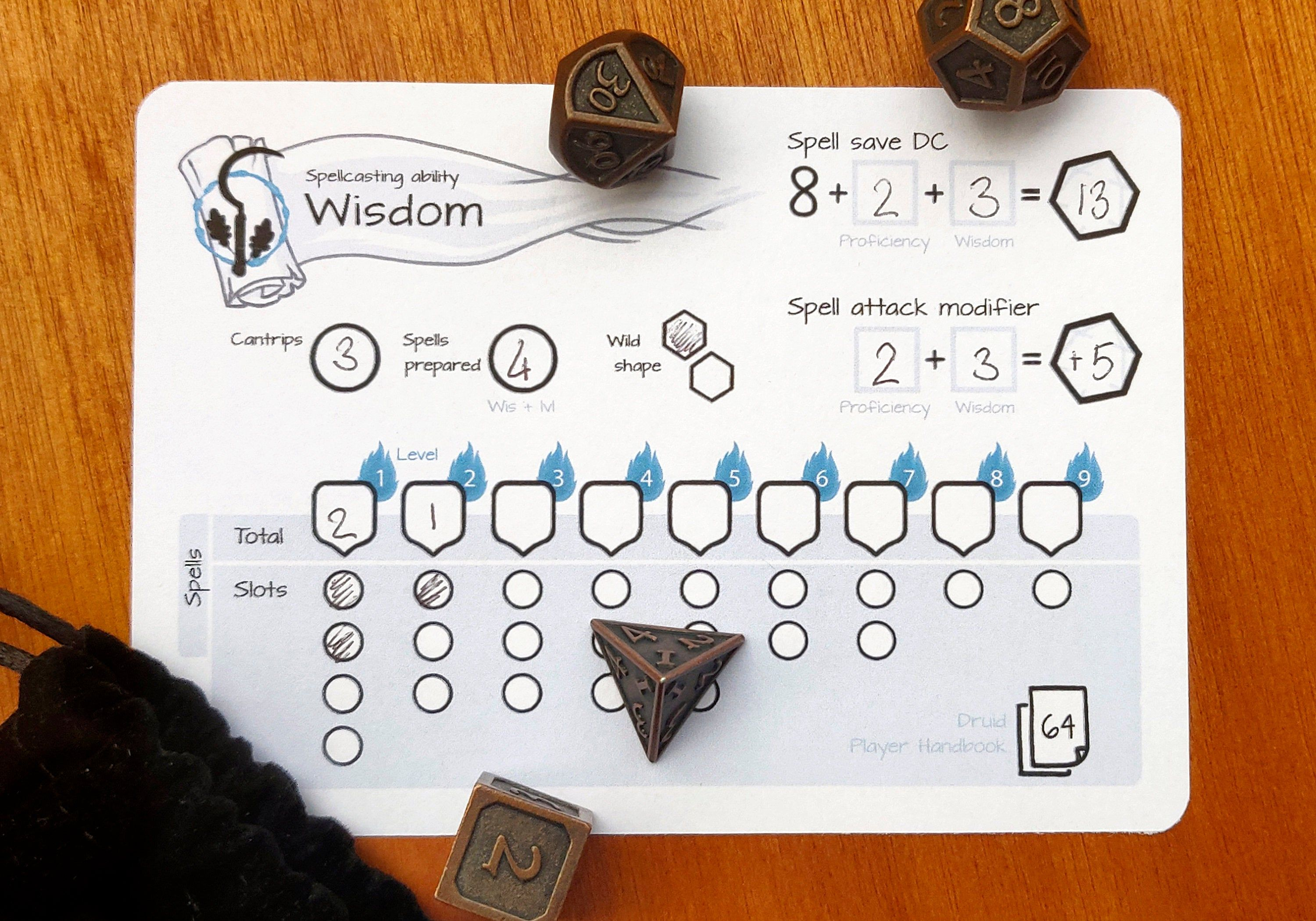 Druid Spell Slot Tracker Dnd 5e Pdf In 2020 Dnd Druid