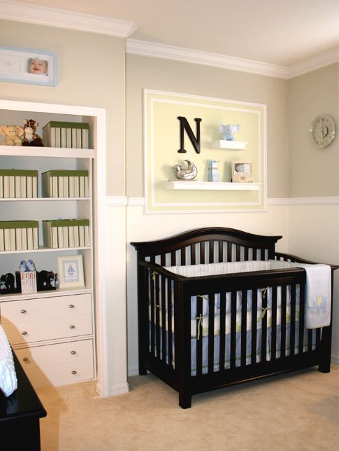 I love that decoration above the crib house nursery boy for Above the crib decoration ideas